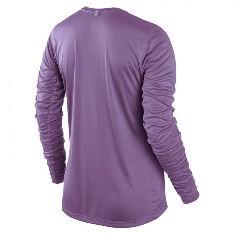 Футболка Nike Miler LS Top (W) /Рубашка беговая фиолетовая - 2