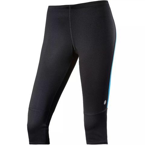 Asics Stripe Knee Tight тайтсы для бега женские черные-синие
