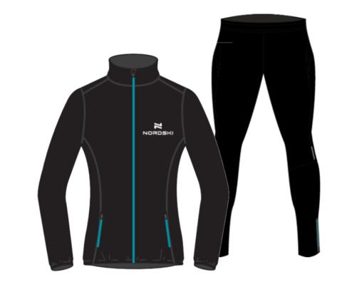 Nordski Motion Premium беговой костюм женский Black-Breeze