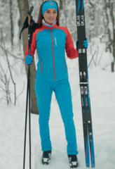 Nordski Premium разминочный костюм женский blue-red
