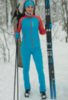 Nordski Premium разминочный лыжный костюм женский blue-red - 1