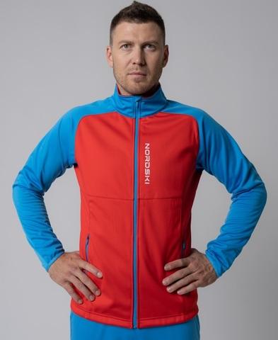 Nordski Premium разминочный лыжный костюм мужской red-blue