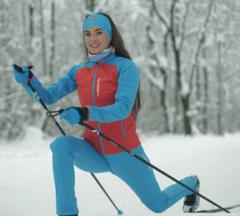 Nordski Premium разминочный костюм женский red blue