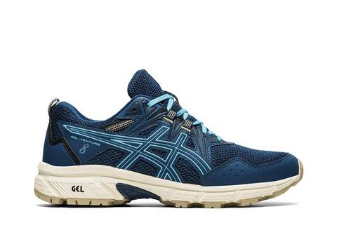 Asics Gel Venture 8 кроссовки-внедорожники для бега женские темно-синие (РАСПРОДАЖА)