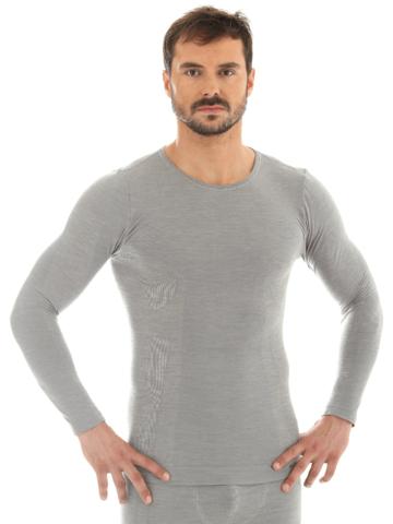 Brubeck Comfort Wool мужской комплект термобелья grey-black