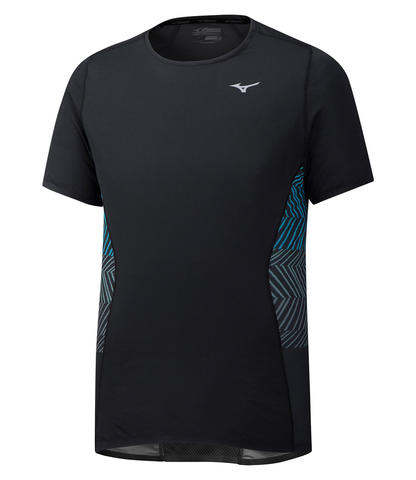 Mizuno Aero Tee беговая футболка мужская черная