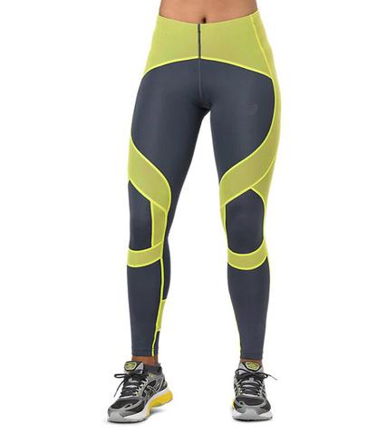 Asics Leg Balance Tight беговые тайтсы женские серые-желтые