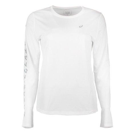 Asics Katakana Ls футболка с длинным рукавом женская белая