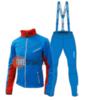 Nordski National 2020 разминочный лыжный костюм мужской blue - 1
