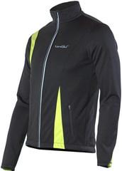 Nordski Active мужская разминочная куртка черный-лайм