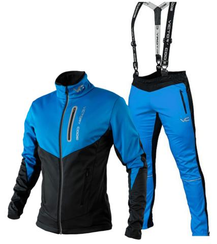 Victory Code Go Fast разминочный лыжный костюм с лямками blue-blue