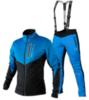 Victory Code Go Fast разминочный лыжный костюм с лямками blue-blue - 1