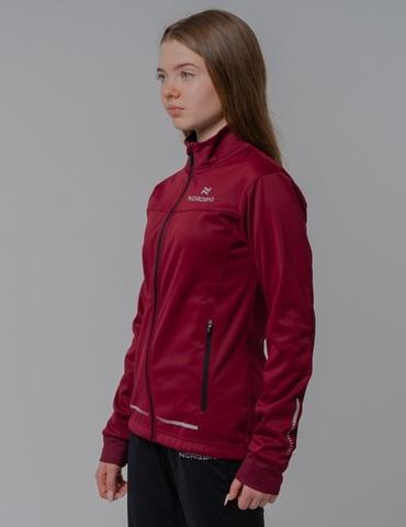 Nordski Jr Pro разминочная куртка детская бордо