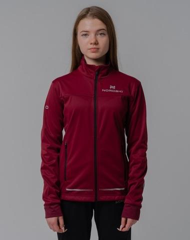 Nordski Jr Pro разминочная куртка детская wine