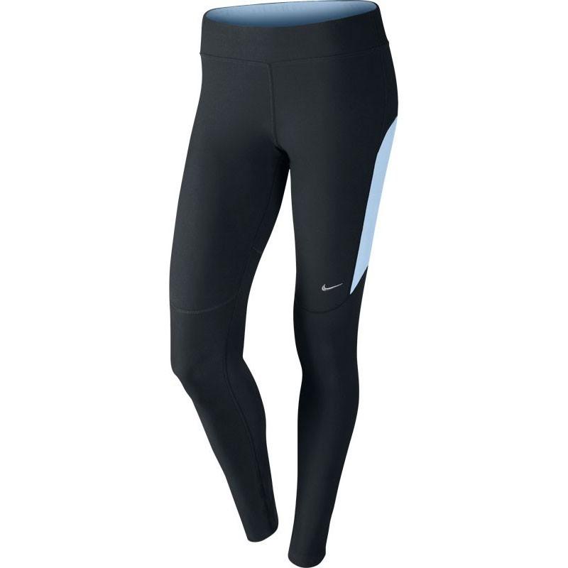 Тайтсы Nike Filament Tight (W) чёрно-голубые