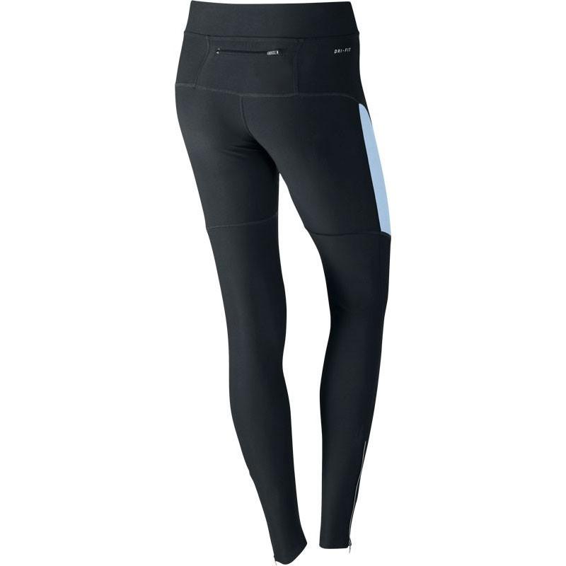 Тайтсы Nike Filament Tight (W) чёрно-голубые - 2