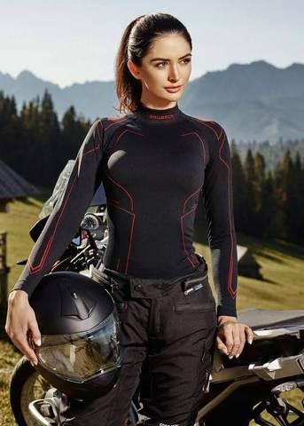Brubeck Motor Cooler женский комплект термобелья черный-амарант