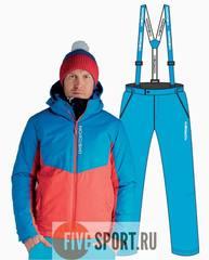 Nordski Montana Premium RUS прогулочный костюм мужской Blue-Red