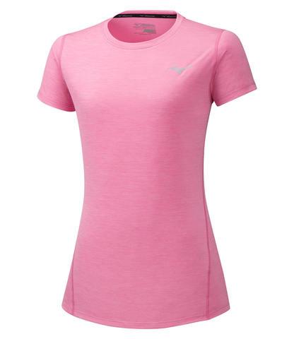 Mizuno Impulse Core Tee футболка для бега женская розовая