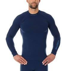BRUBECK THERMO NILIT HEAT терморубашка мужская синяя