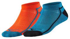 Mizuno Active Training Mid 2p комплект носков синие-оранжевые