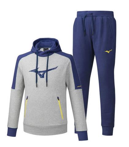 Mizuno Heritage спортивный костюм мужской grey