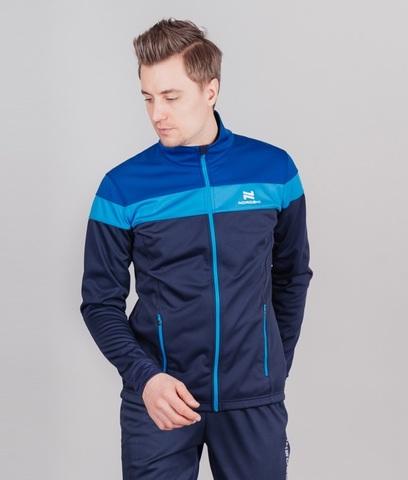 Nordski Drive мужской разминочный лыжный костюм blueberry