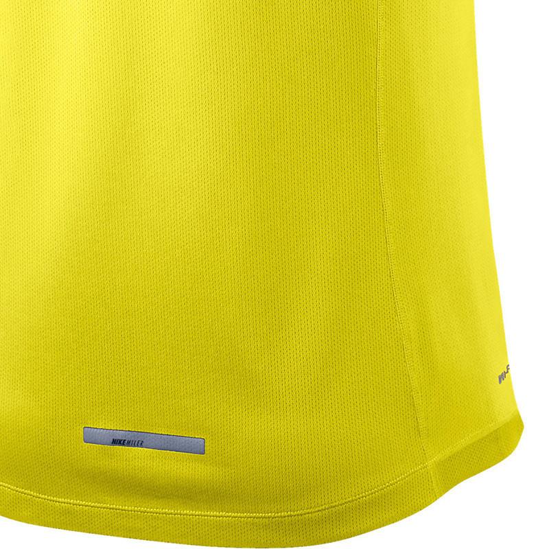 Майка л/а Nike Miler Singlet жёлтая мужская - 3