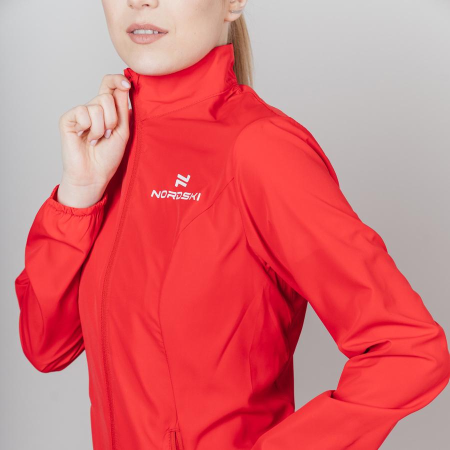 Nordski Motion куртка ветровка женская Red - 4