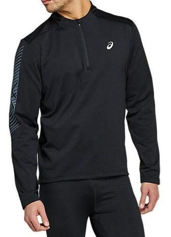 Asics Icon 1/2 Zip LS утепленная рубашка для бега мужская черная
