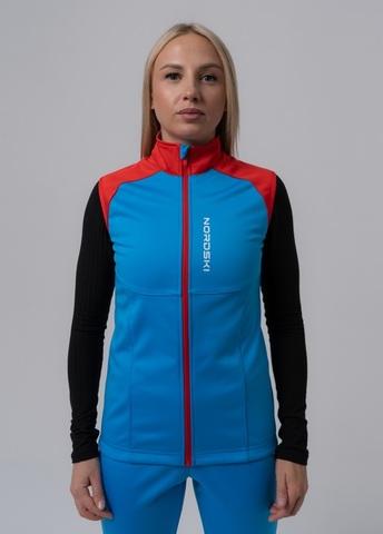 Nordski Premium лыжный жилет женский синий-красный