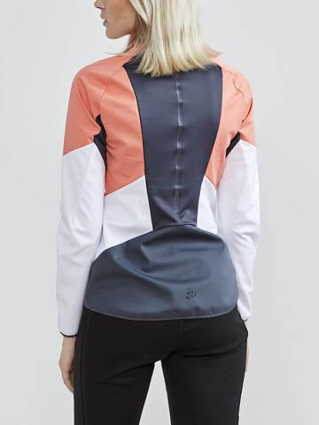Craft Glide XC лыжная куртка женская белая-коралловая