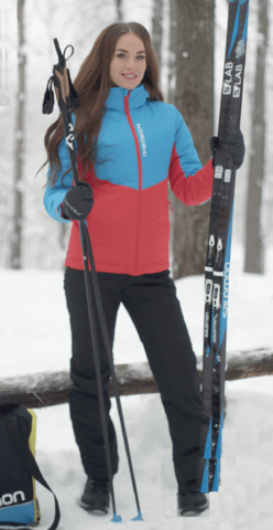 Nordski Montana утепленный лыжный костюм женский blue-red
