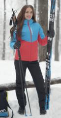 Nordski Montana утепленный костюм женский blue-red