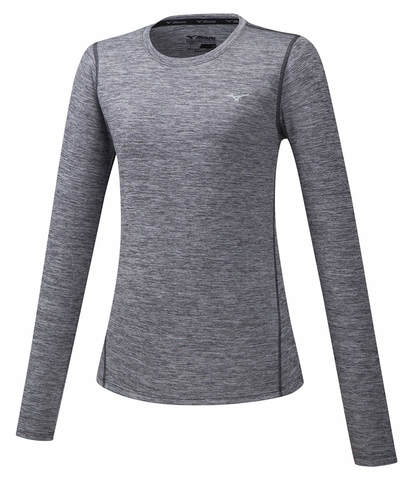 Mizuno Impulse Core Ls Tee футболка с длинным рукавом женская серая