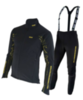 Olly разминочный лыжный костюм black/yellow/line - 1
