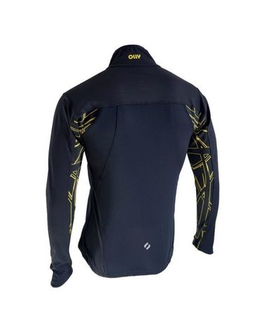Olly разминочный лыжный костюм black/yellow/line