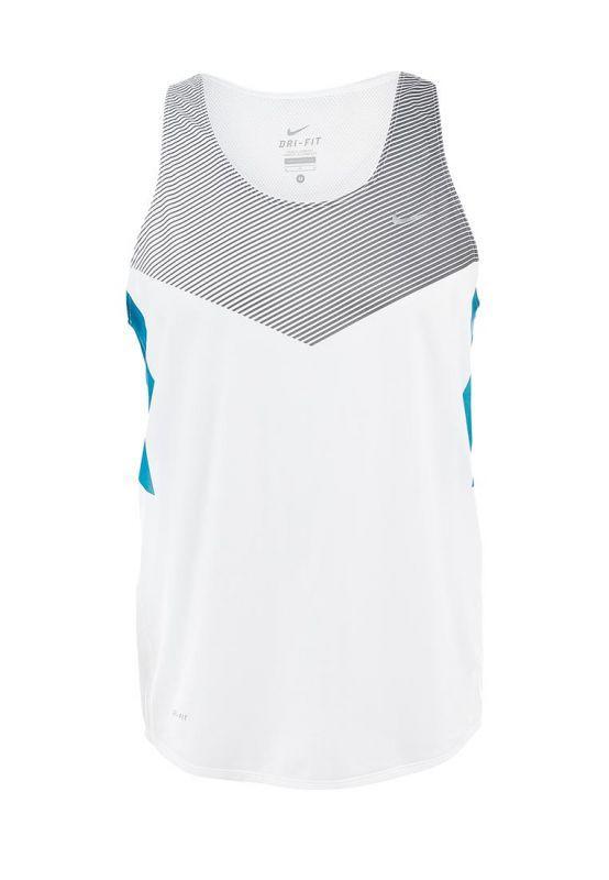 Майка л/а Nike Distance Singlet белая - 4