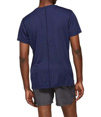 Asics Silver Ss Top футболка для бега мужская темно-синяя