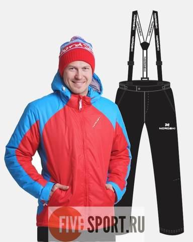 Nordski National утепленный лыжный костюм мужской Red-Black
