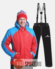 Nordski National 2020 утепленный костюм мужской Red-Black