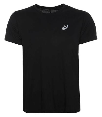 Asics Silver Ss Top футболка для бега мужская черная