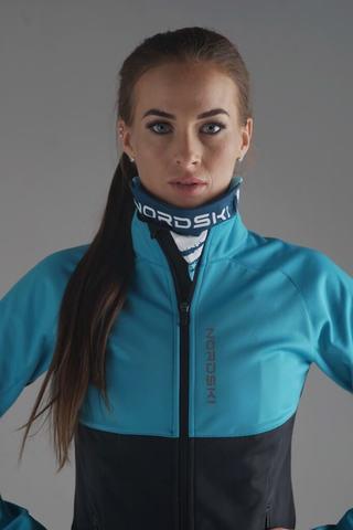 Nordski Premium разминочный лыжный костюм женский breeze-black