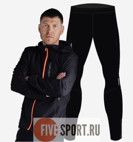 Nordski Run Premium костюм для бега мужской Black-Orange