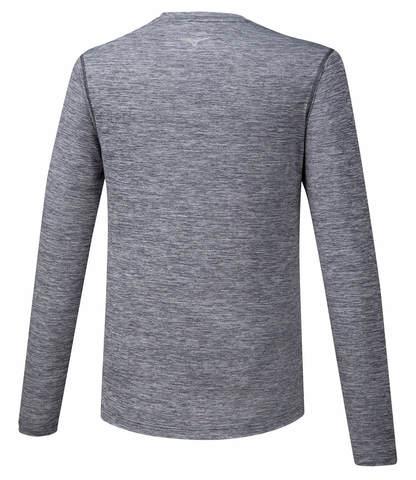 Mizuno Impulse Core Ls Tee футболка с длинным рукавом мужская серая