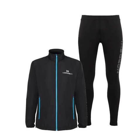 Nordski Motion Elite костюм для бега мужской black-blue
