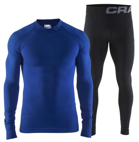 Комплект термобелья Craft Warm Intensity мужской синий