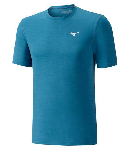 Mizuno Impulse Core Tee беговая футболка мужская синяя