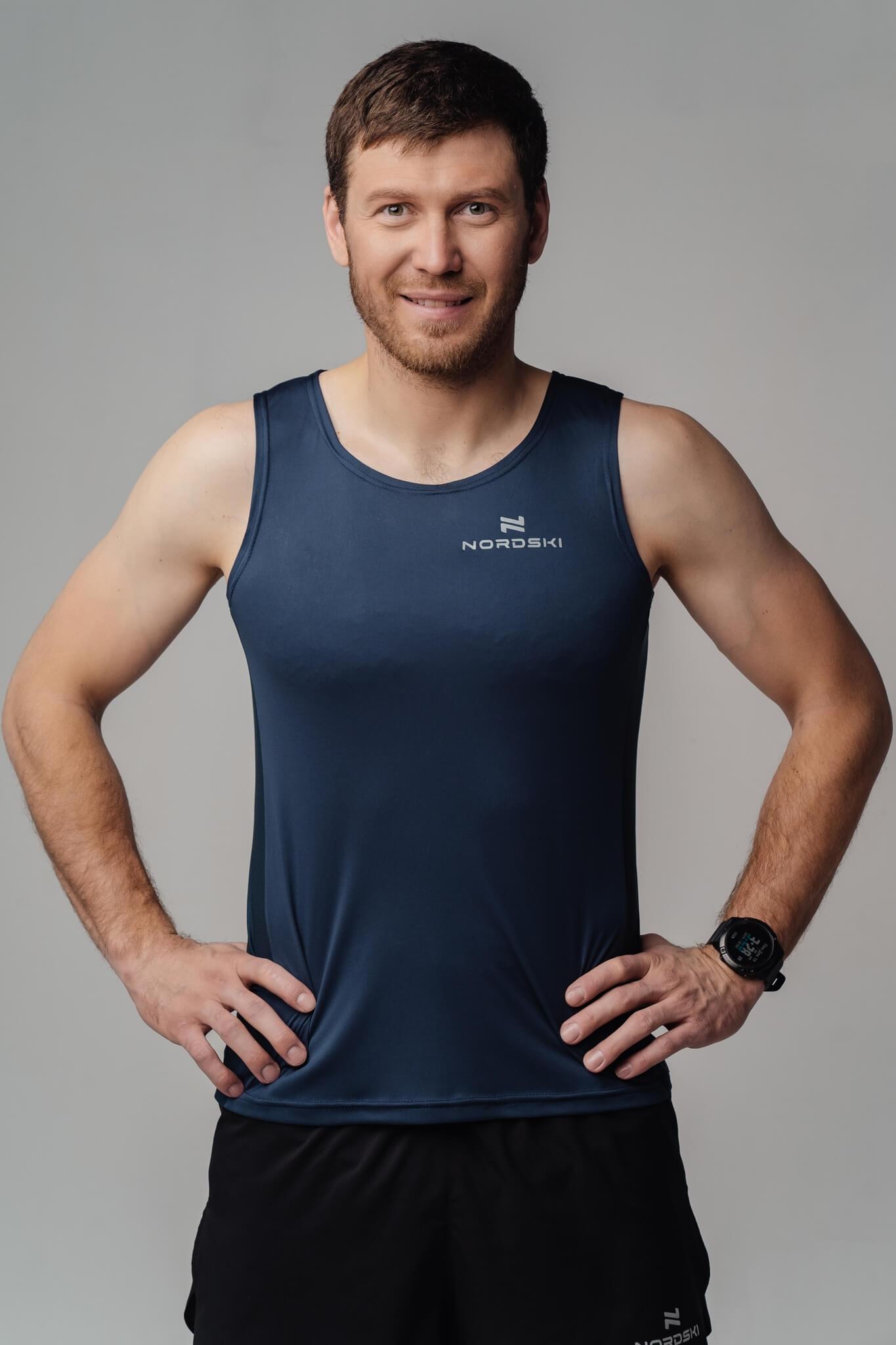 Nordski Run майка беговая мужская blueberry