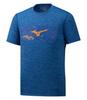 Mizuno Impulse Core Wild Bird Tee футболка для бега мужская синяя - 1